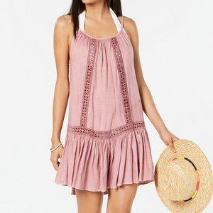 Raviya Crochet-Trim Swimsuit Cover-Up Dress Medium